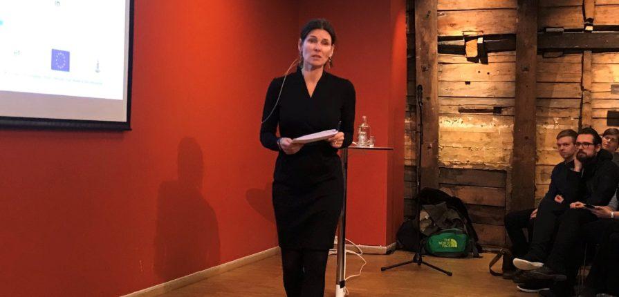 Marit Skivenes on a stage